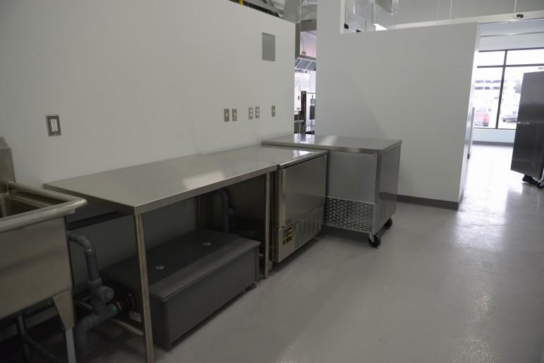 Prep kitchen with blast chiller