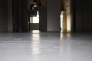 photo of brand new floor in the Cauldron
