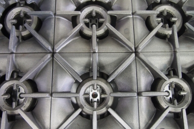 close up photo of a gas-fired commercial stove
