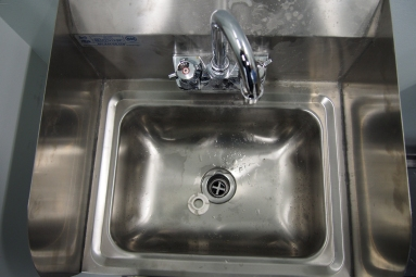 close up of a hand sink