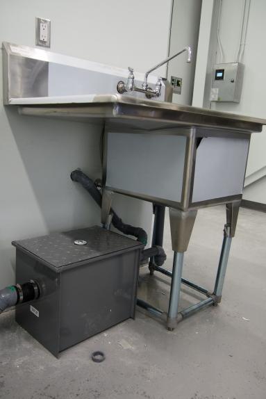 photo of prep sink and plumbing