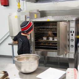 Baked goods in the oven