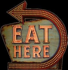 eat here neon sign