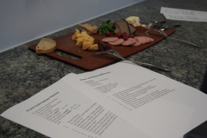 Recipes and start of class snack. So yummy!