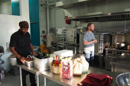 Dave of the Cauldron Food School introducing Warren Sutherland.
