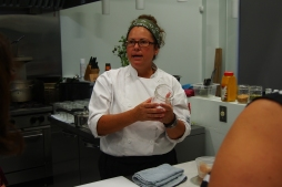 The instructor, Jo-Ann Laverty, a force in the kitchen and in food business.