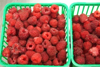 Rideau Pines Farm raspberries. So yummy.