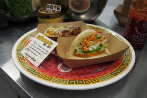 Gongfu bao Street Food bringing together Asian flavours in a sweet pillowy steam bun.