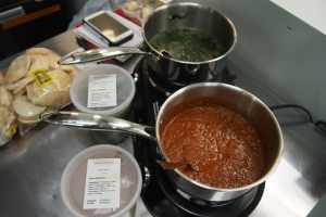 Nouna's Cupboard made the Cauldron smell devine with their pasta sauce and spinach and garlic soup.