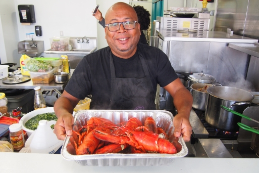 Chef Jean-David and his homards
