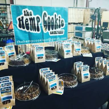The Hemp Cookie Company with a full line of product on display.